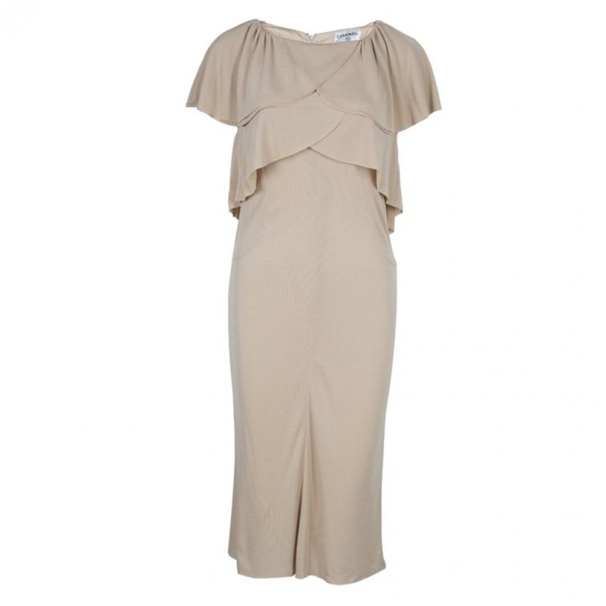 Chanel - Robe   pour femme - beige