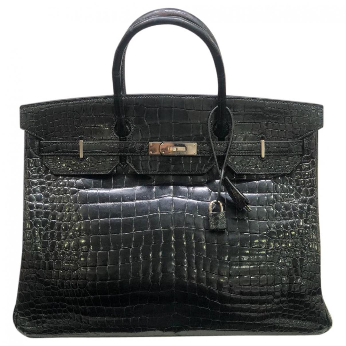 Hermès Birkin 40 Black Crocodile handbag for Women \N