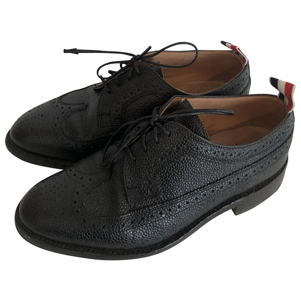 Thom Browne \N Black Leather Lace ups for Women 38 EU