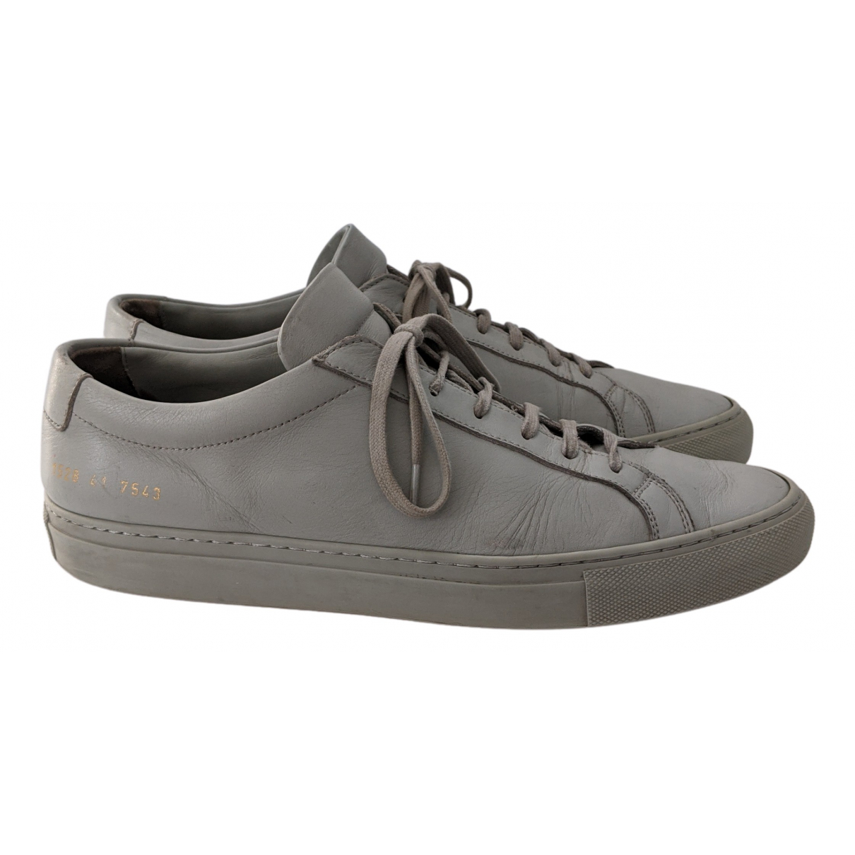 Common Projects N Grey Leather Trainers for Men 41 EU