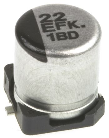 Panasonic 22μF Electrolytic Capacitor 25V dc, Surface Mount - EEEFK1E220R (25)