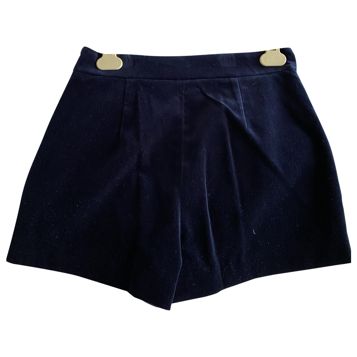 Diane Von Furstenberg \N Blue Suede Shorts for Women 0 0-5