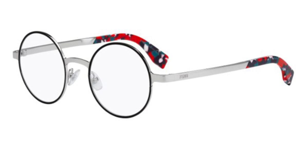 Fendi FF 0091 GALASSIA D41 Women's Glasses Black Size 47 - Free Lenses - HSA/FSA Insurance - Blue Light Block Available