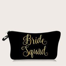 1pc Letter Graphic Makeup Bag