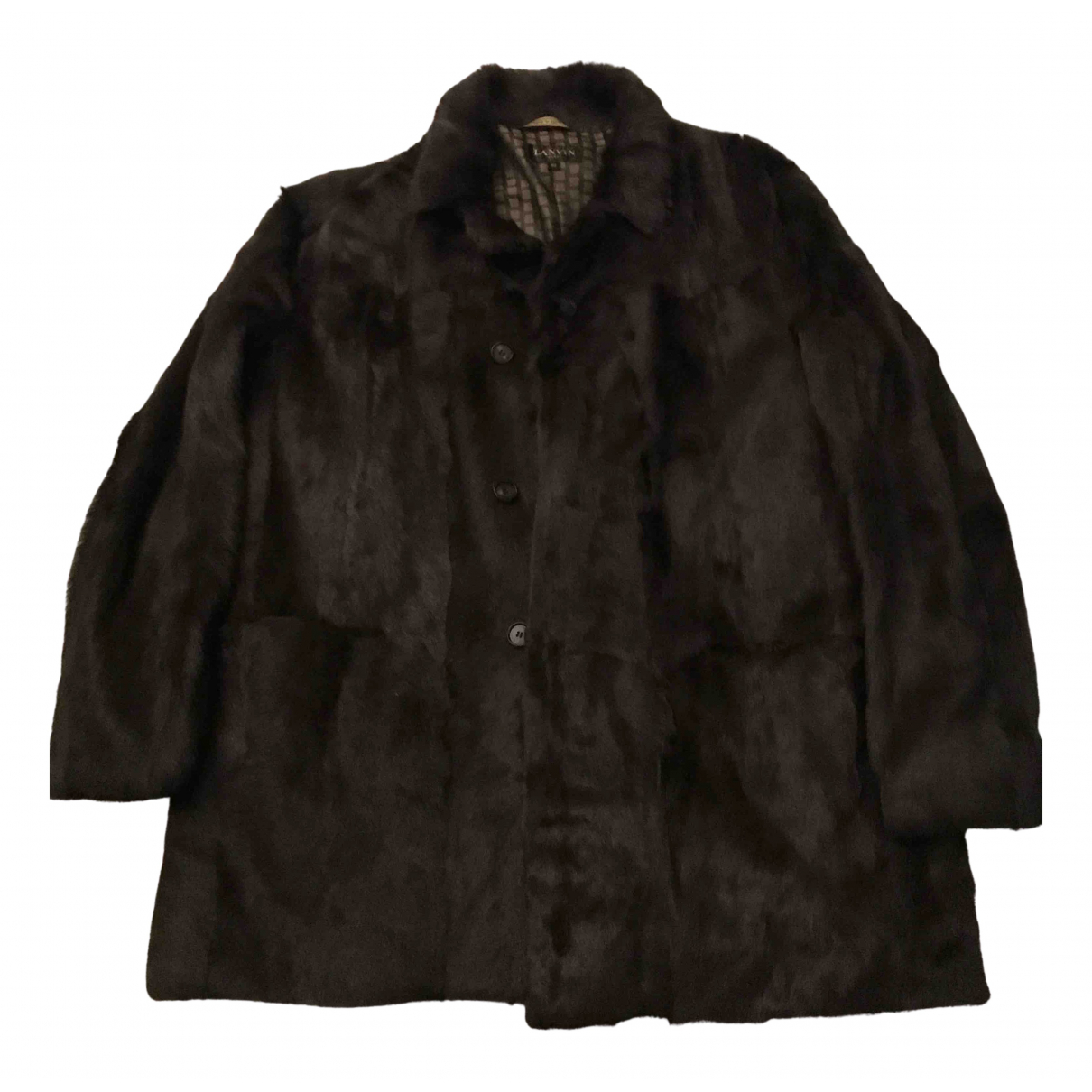 Lanvin - Manteau   pour homme en fourrure - marron