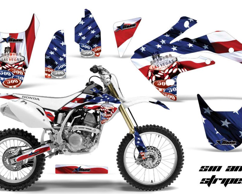 AMR Racing Dirt Bike Graphics Kit Decal Sticker Wrap For Honda CRF150R 2007-2016áUSA SINS