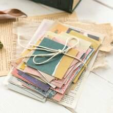60 Blaetter zufaelliges Materialpapier mit gemischtem Muster