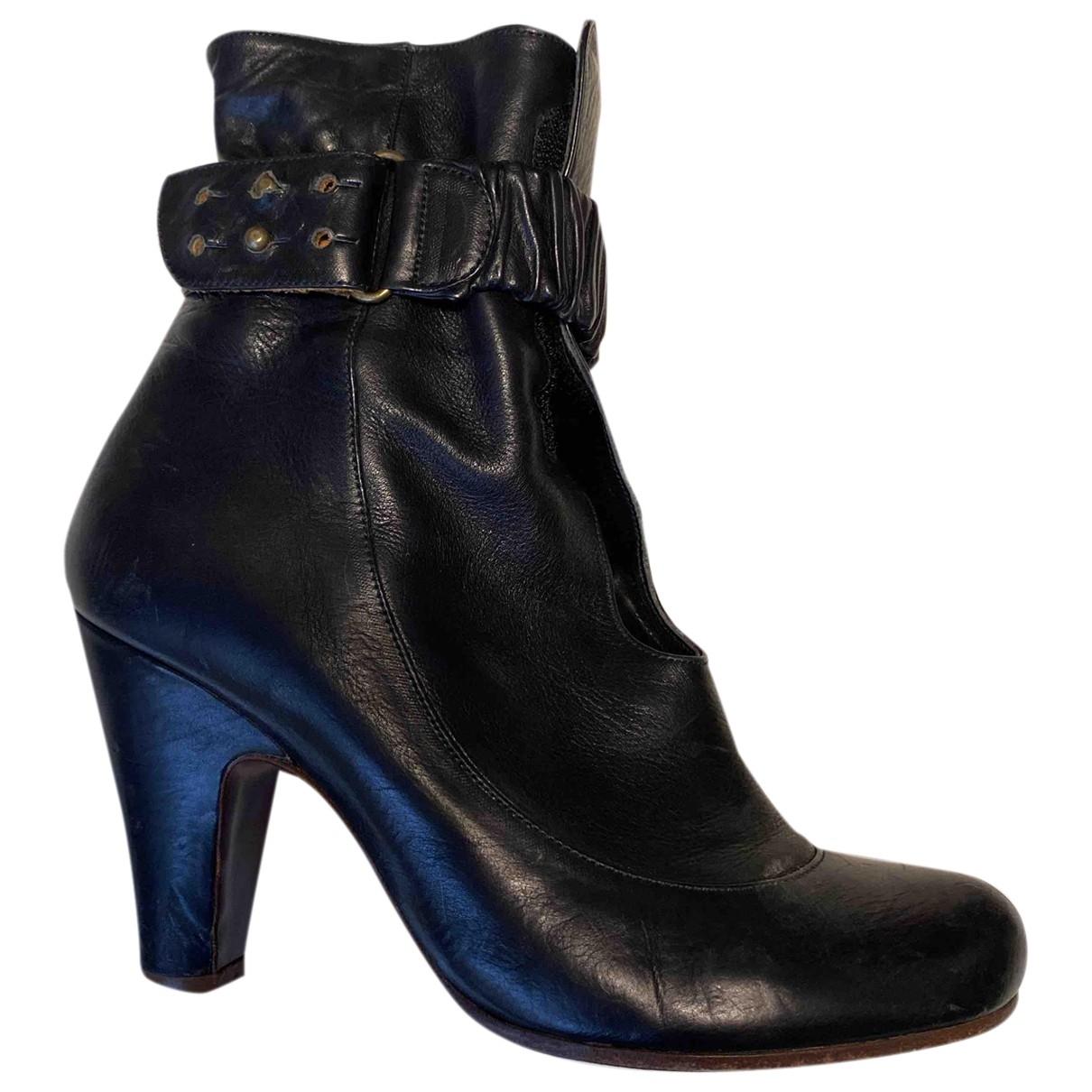 Chie Mihara - Bottes   pour femme en cuir - noir