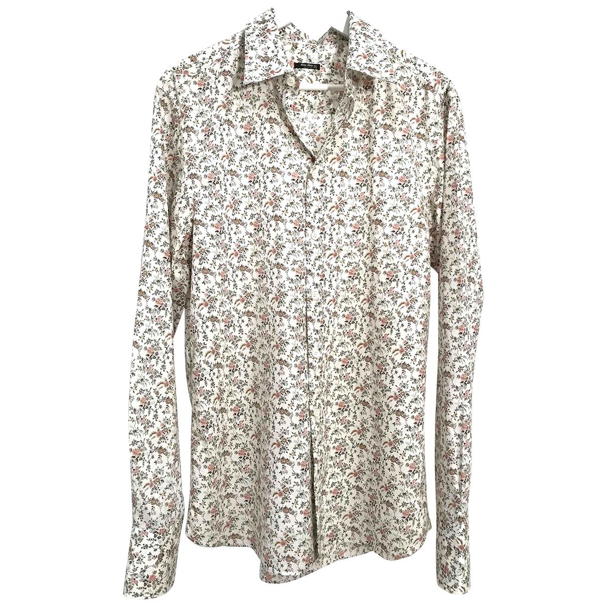 Miu Miu - Chemises   pour homme en coton - ecru
