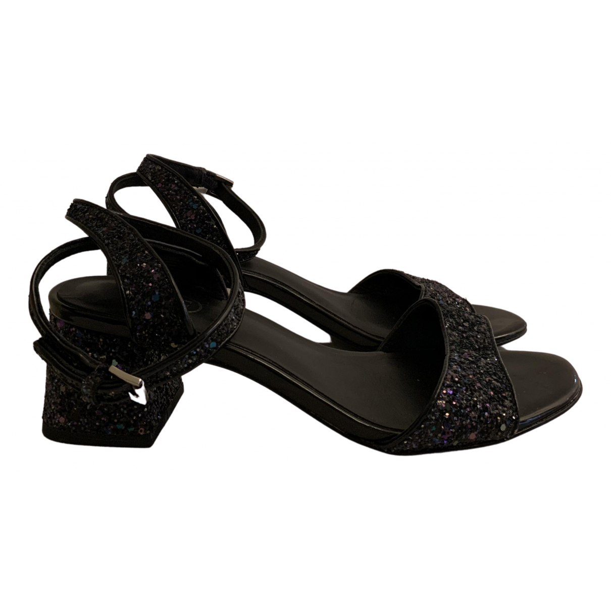 Ash N Black Leather Sandals for Women 37 IT