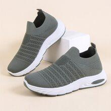 Zapatillas deportivas anchas sin cordon