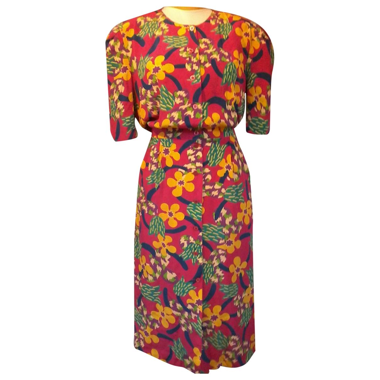 Escada - Robe   pour femme en soie - multicolore