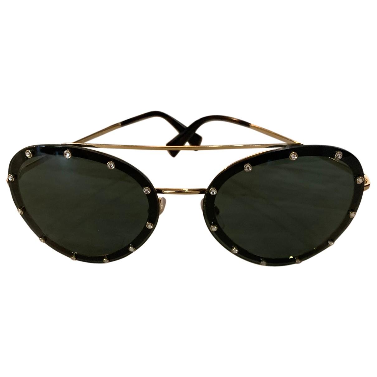 Valentino Garavani N Black Metal Sunglasses for Women N