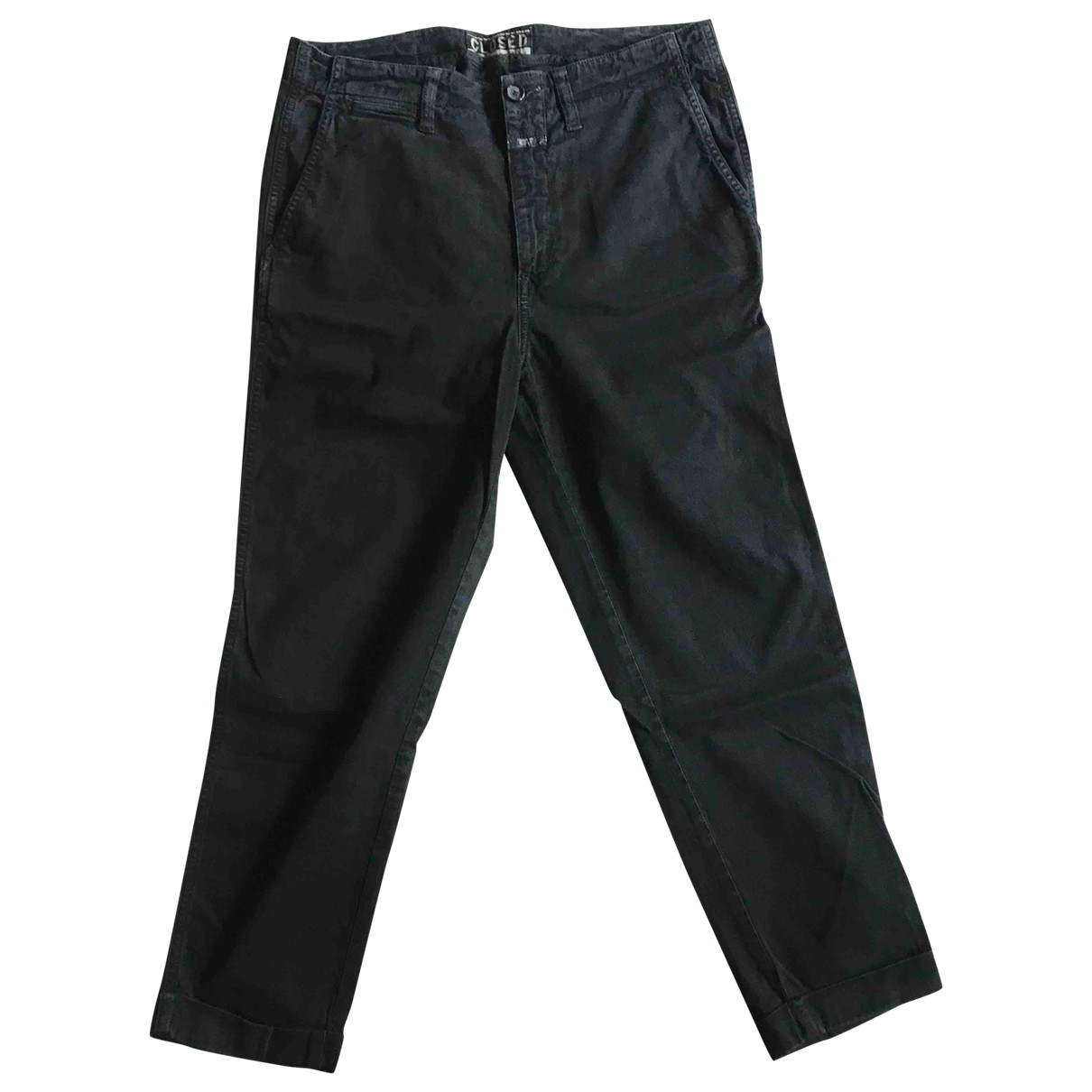 Closed \N Black Cotton Trousers for Women 44 FR