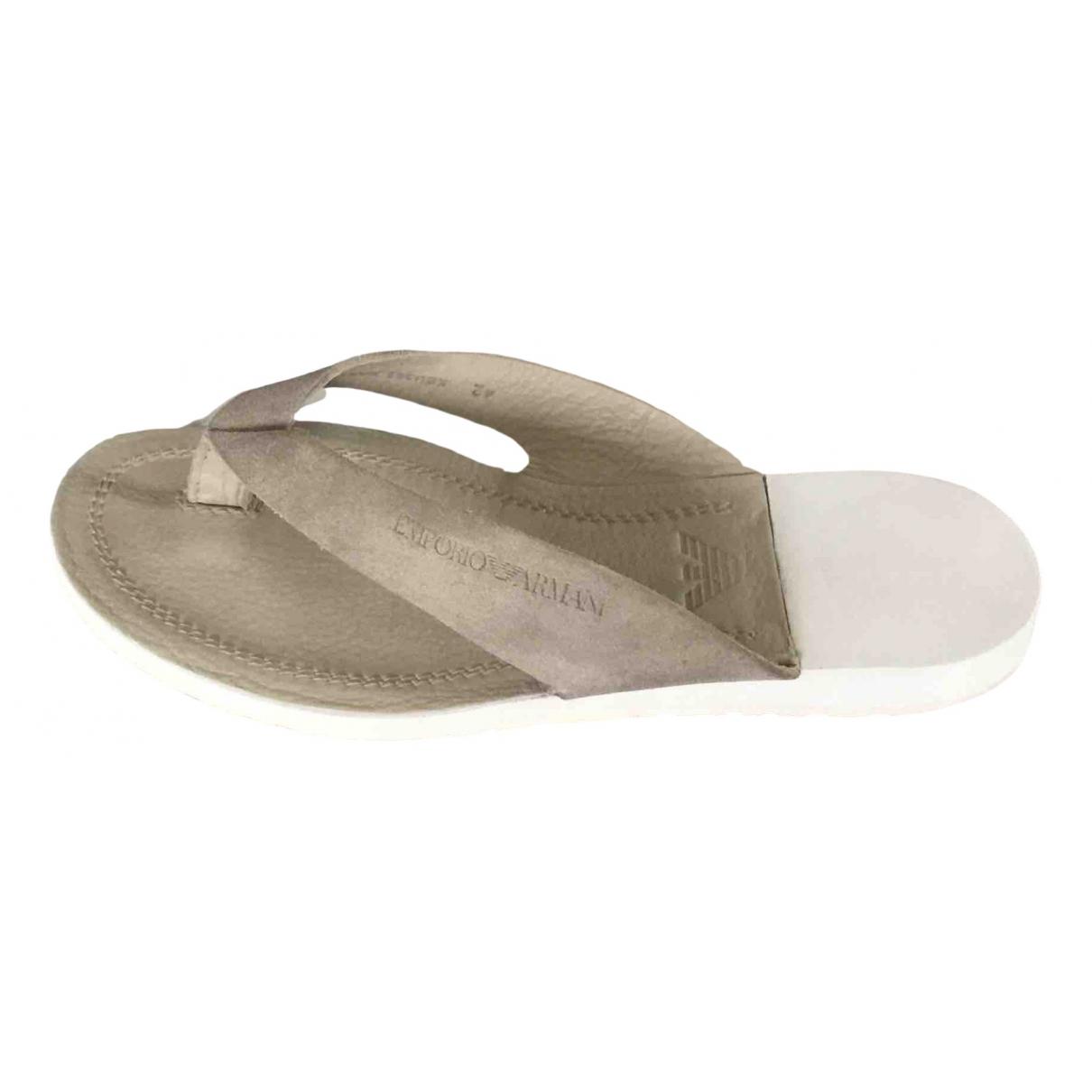 Emporio Armani \N Beige Suede Sandals for Men 42 EU