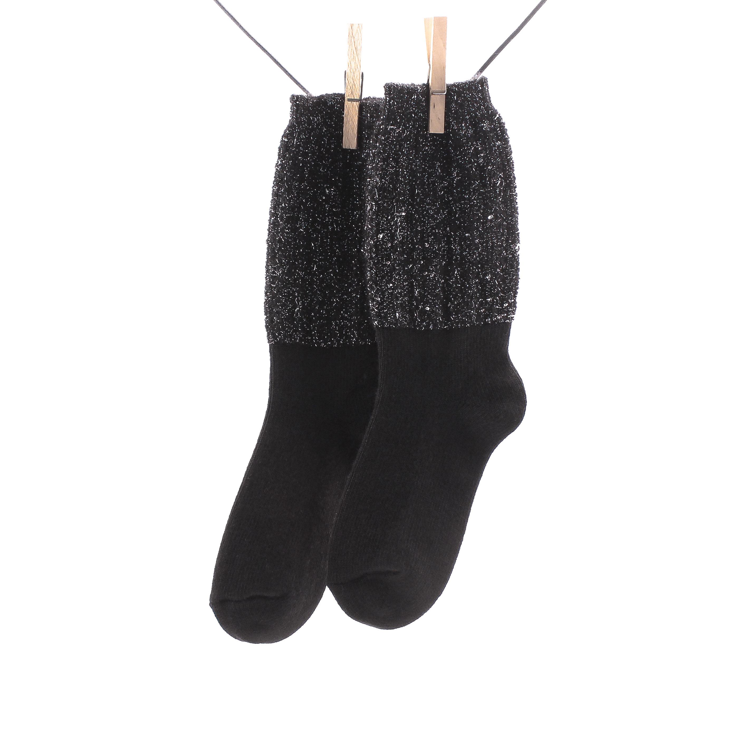 Cronert, 15408 Wolle-Mohair-Kashmir Socke Damen, schwarz Grosse 35-38