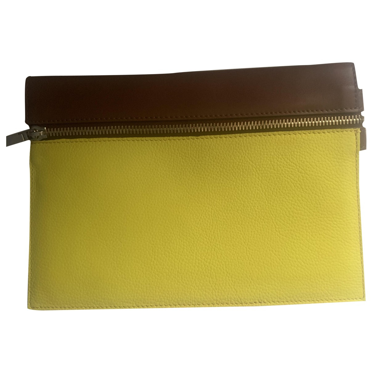 Victoria Beckham \N Yellow Leather Clutch bag for Women \N