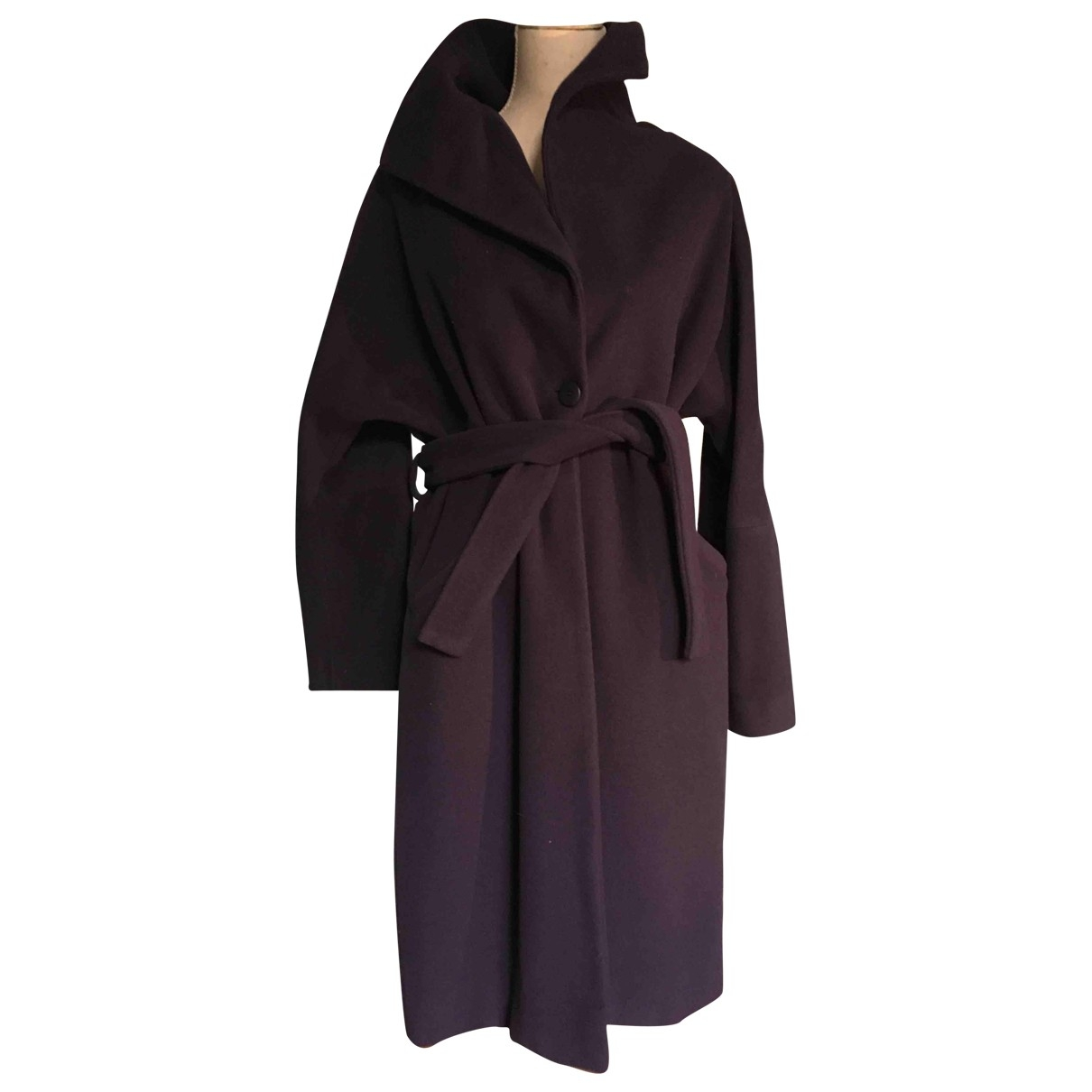 Non Signé / Unsigned \N Purple Wool coat for Women 44 IT