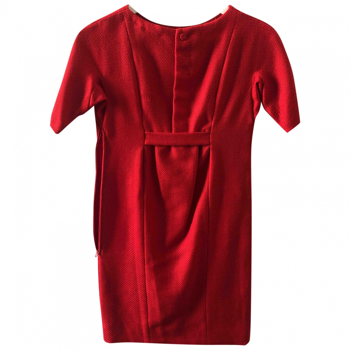 Non Signé / Unsigned \N Red Wool dress for Women 36 FR
