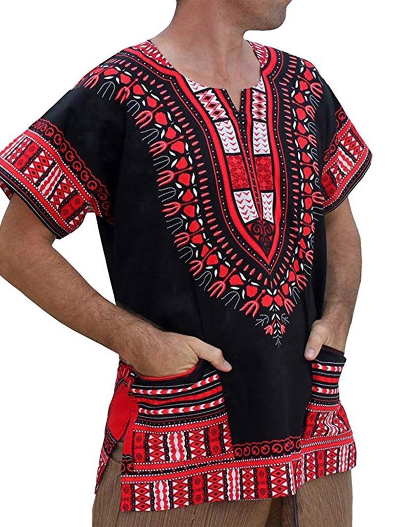 Ericdress Print Short Sleeve Pullover Men's T-shirt