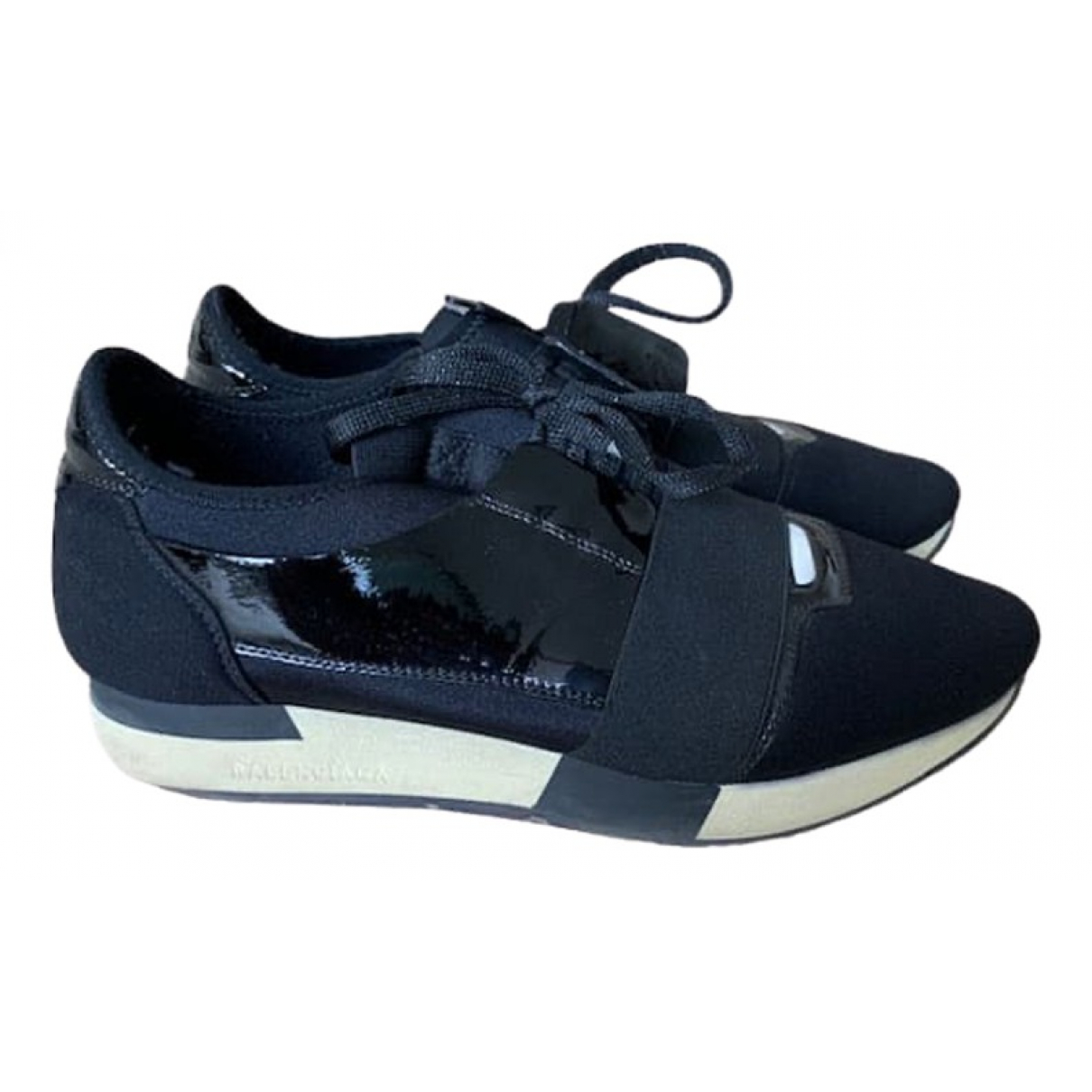 Balenciaga Race Black Cloth Trainers for Women 41 EU