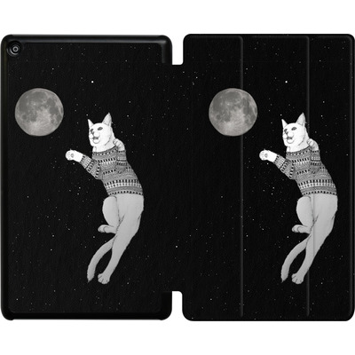 Amazon Fire HD 8 (2018) Tablet Smart Case - Hipster Cat Trying to Catch the Moon von Barruf