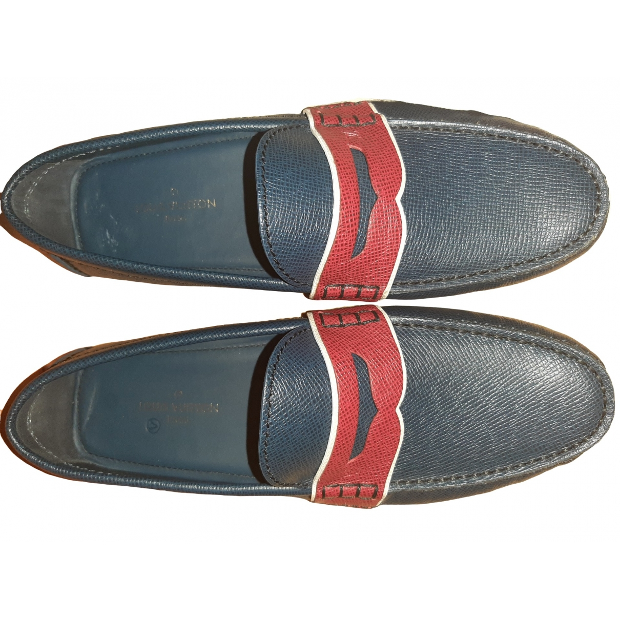 Louis Vuitton \N Blue Leather Flats for Men 7 US