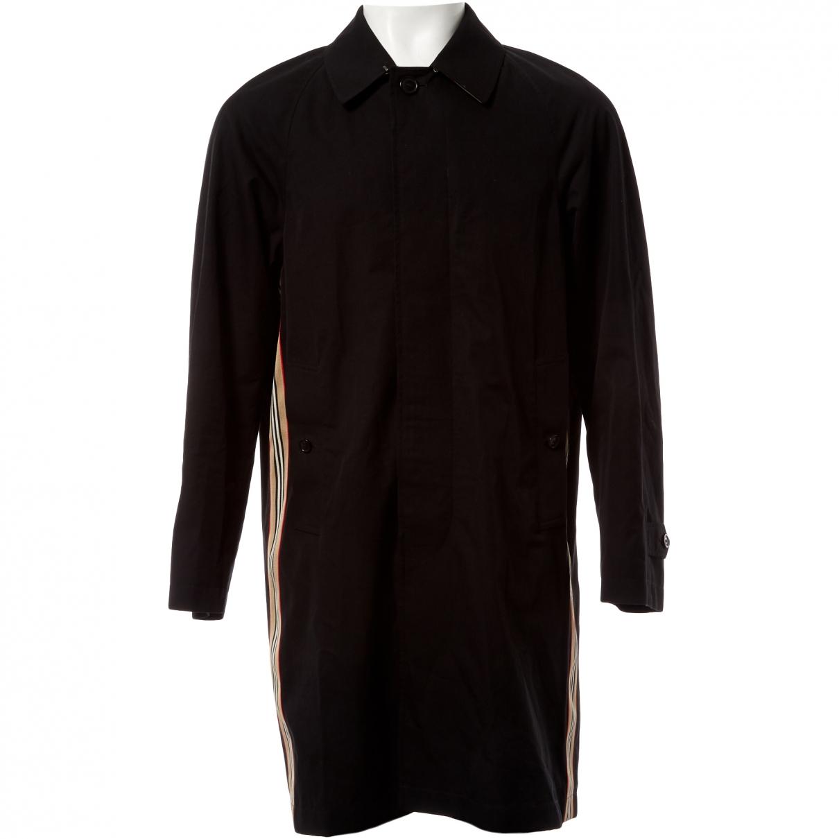 Burberry \N Black Cotton coat  for Men 52 IT