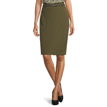 Black Label by Evan-Picone Suit Skirt, 16 , Green