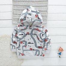 Toddler Boys Road & Mountain Print Hoodie