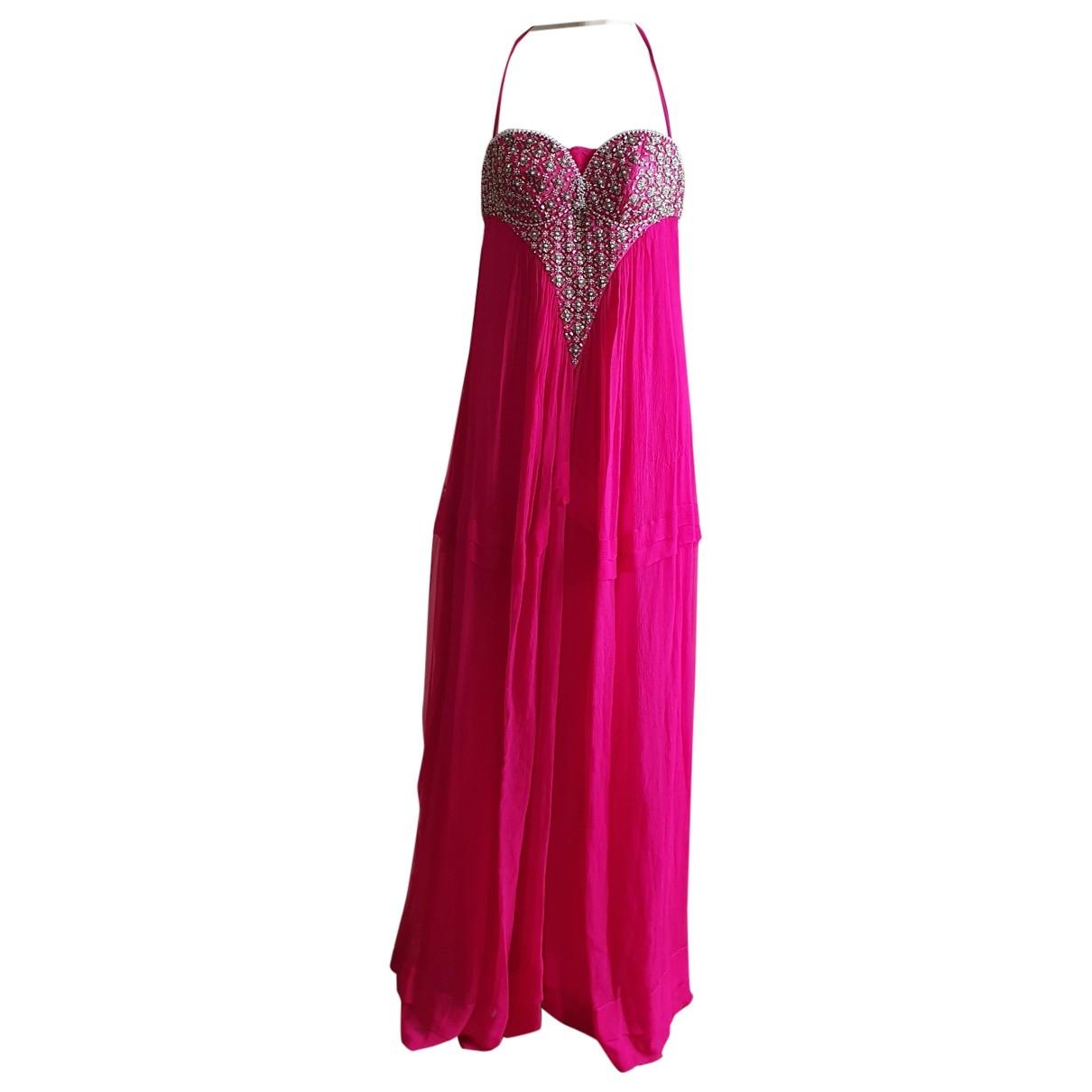 Roberto Cavalli \N Kleid in  Rosa Seide
