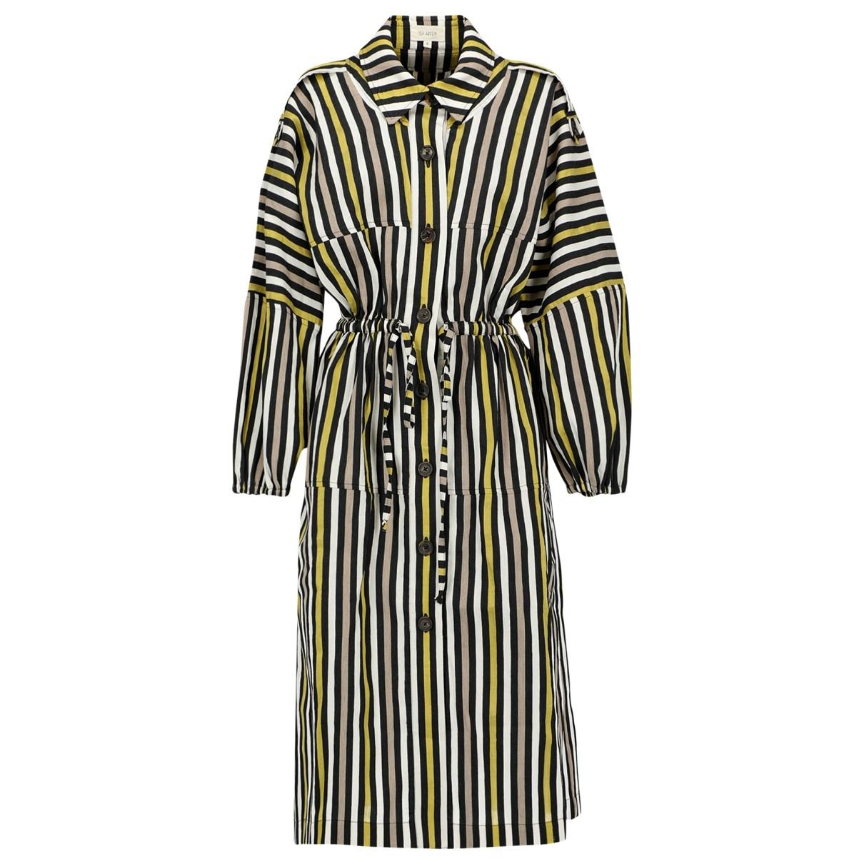 Isa Arfen - Robe   pour femme en coton - beige