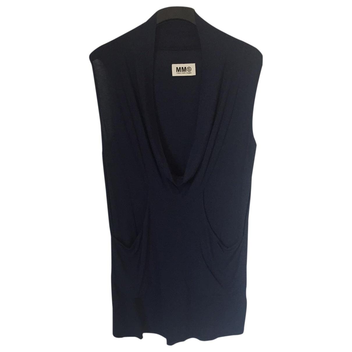 Mm6 \N Kleid in  Blau Viskose