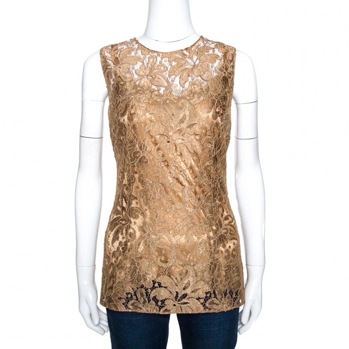 Dolce & Gabbana \N Top in  Beige Synthetik