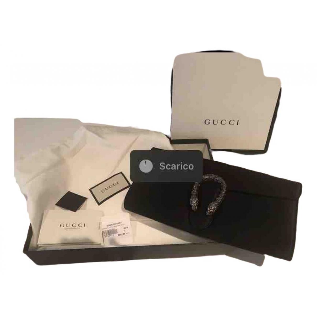 Gucci Dionysus Clutch in  Schwarz Seide