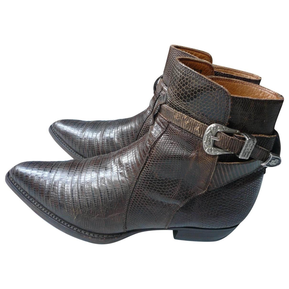 - Boots Hippie Chic pour femme en lezard - marron