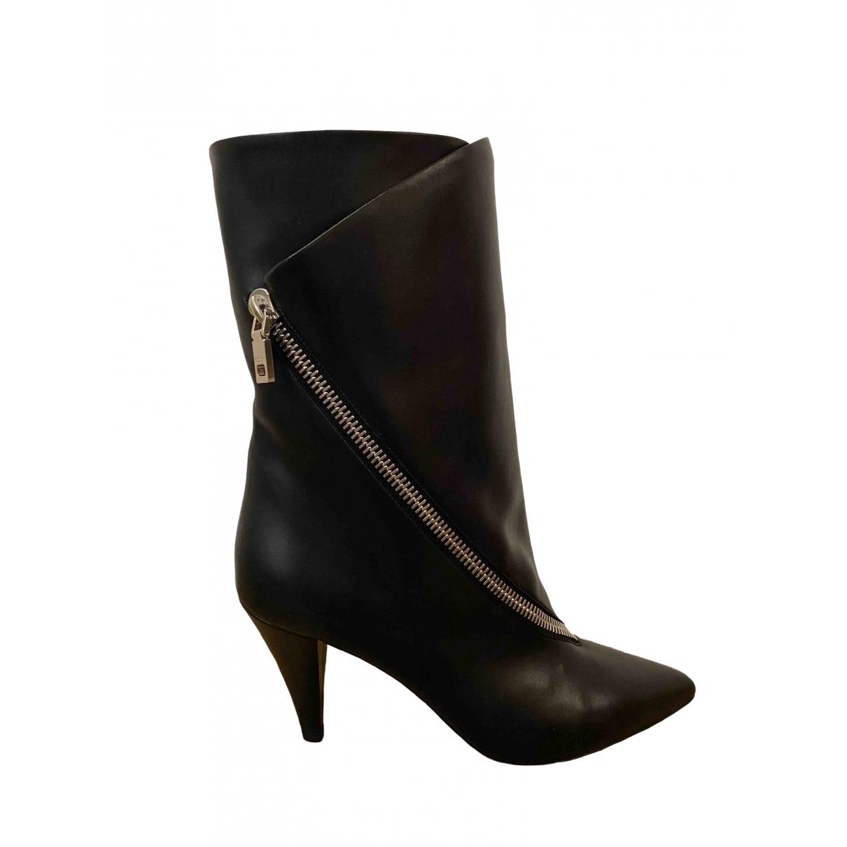 Givenchy \N Stiefel in  Schwarz Leder