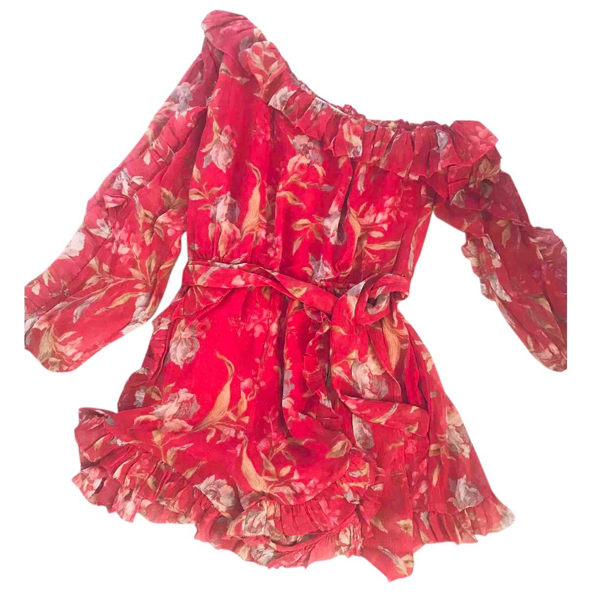 Zimmermann - Combinaison   pour femme en soie - rouge