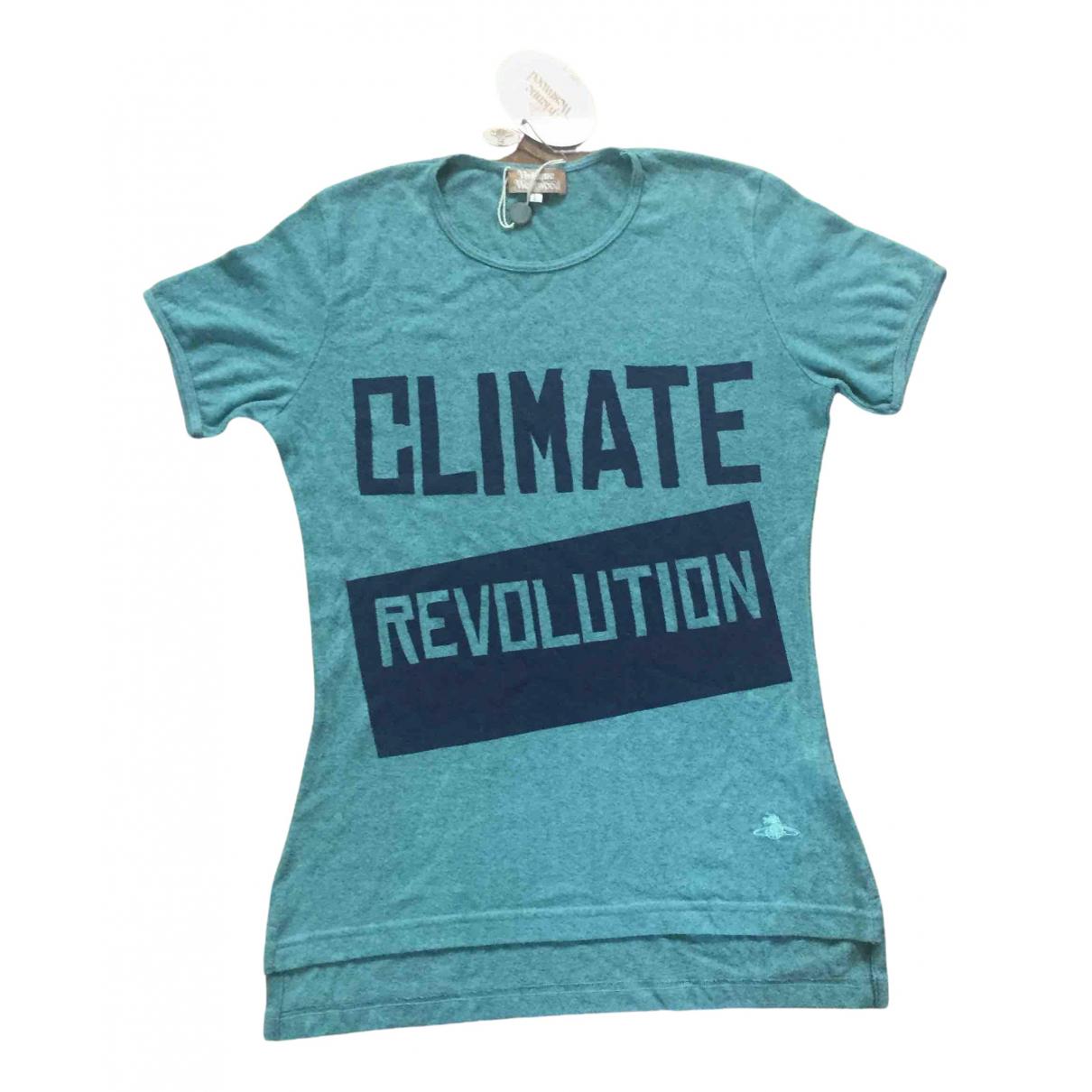 Vivienne Westwood - Top   pour femme en coton - turquoise