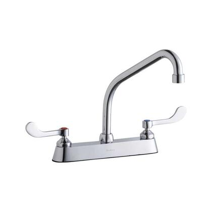 LK810HA08T4 8 Centerset with Exposed Deck Faucet  Includes 8 High Arc Spout and 4 Wristblade Handles  in
