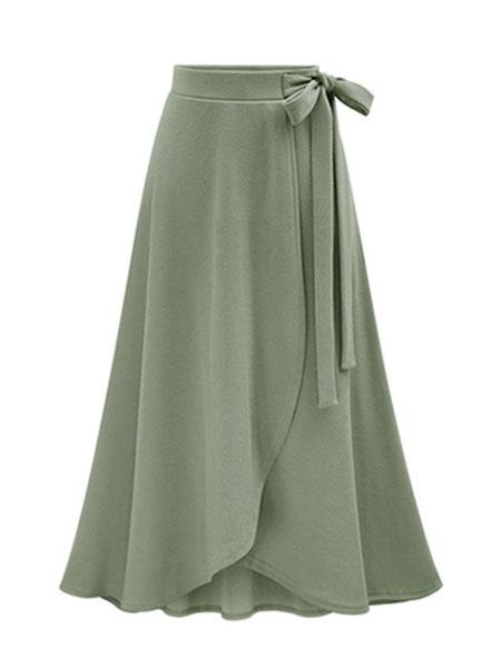 Milanoo Women Summer Skirt Asymmetrical Long Skirt