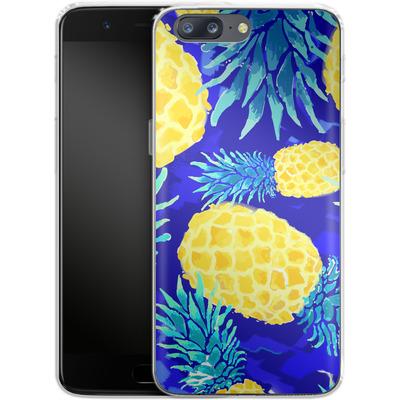OnePlus 5 Silikon Handyhuelle - Pineapple Crush von Mukta Lata Barua