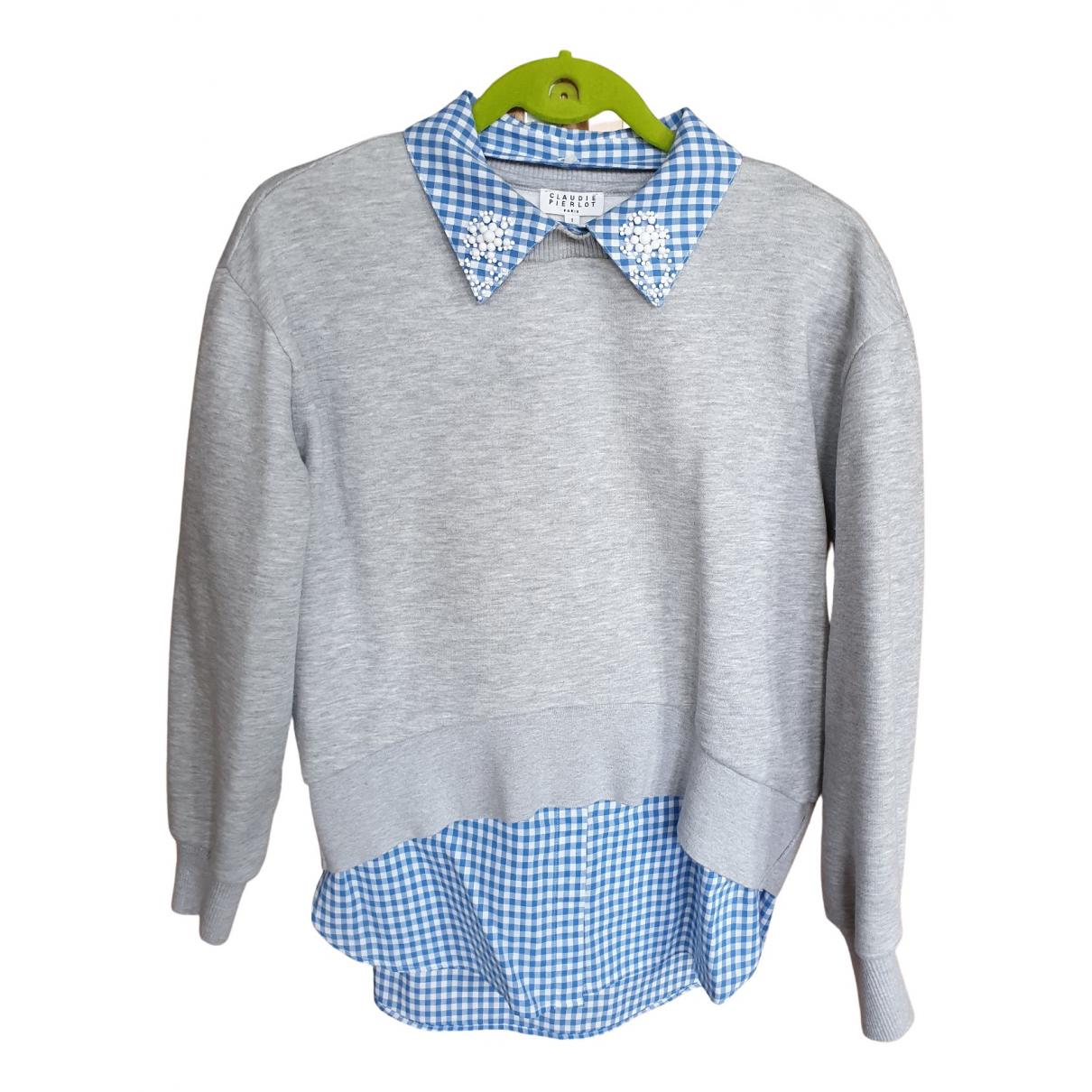 Claudie Pierlot - Pull   pour femme en coton - gris