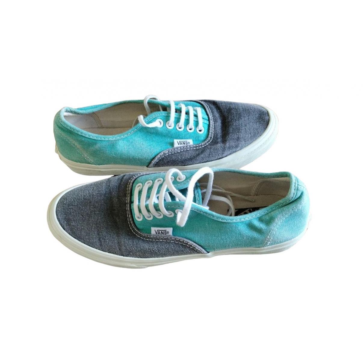 Vans \N Sneakers in  Gruen Leinen