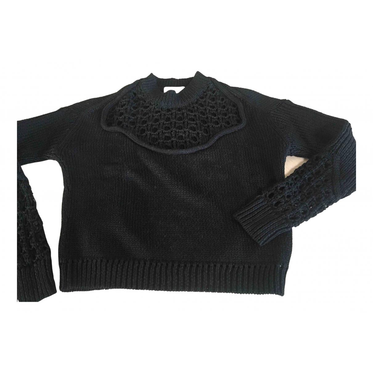 3.1 Phillip Lim - Pull   pour femme en coton - noir