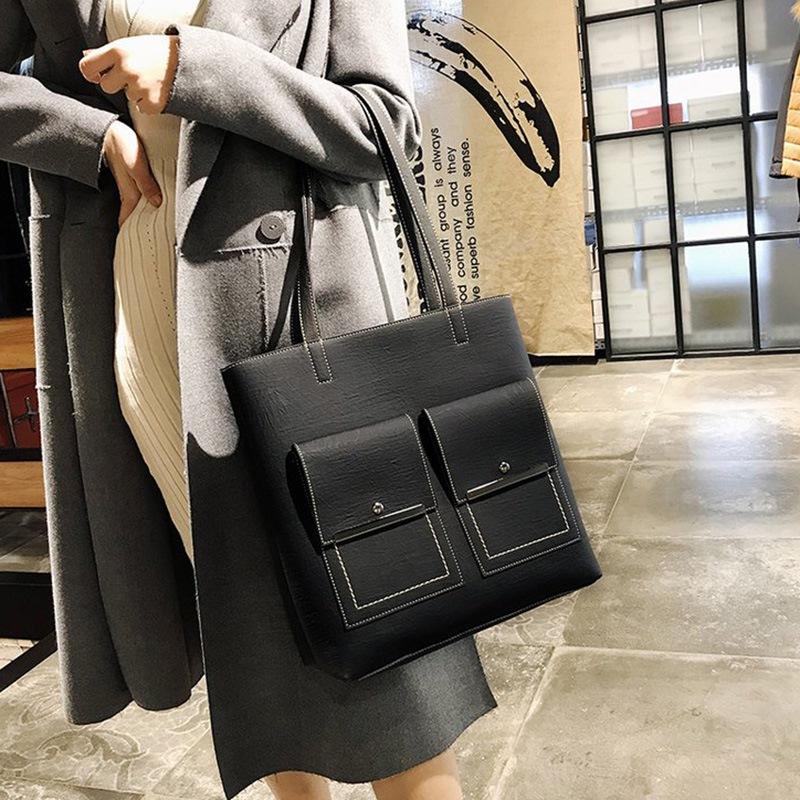 Ericdress Thread PU Plain Fashion Rectangle Tote Bags