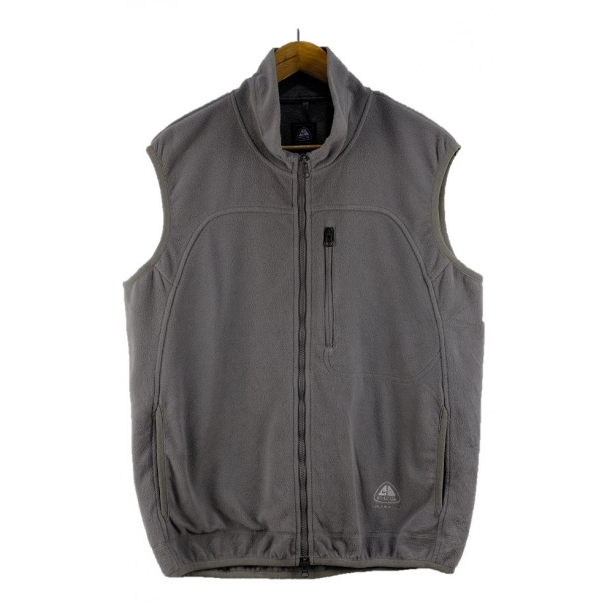 Nike Acg \N Jacke in  Grau Polyester