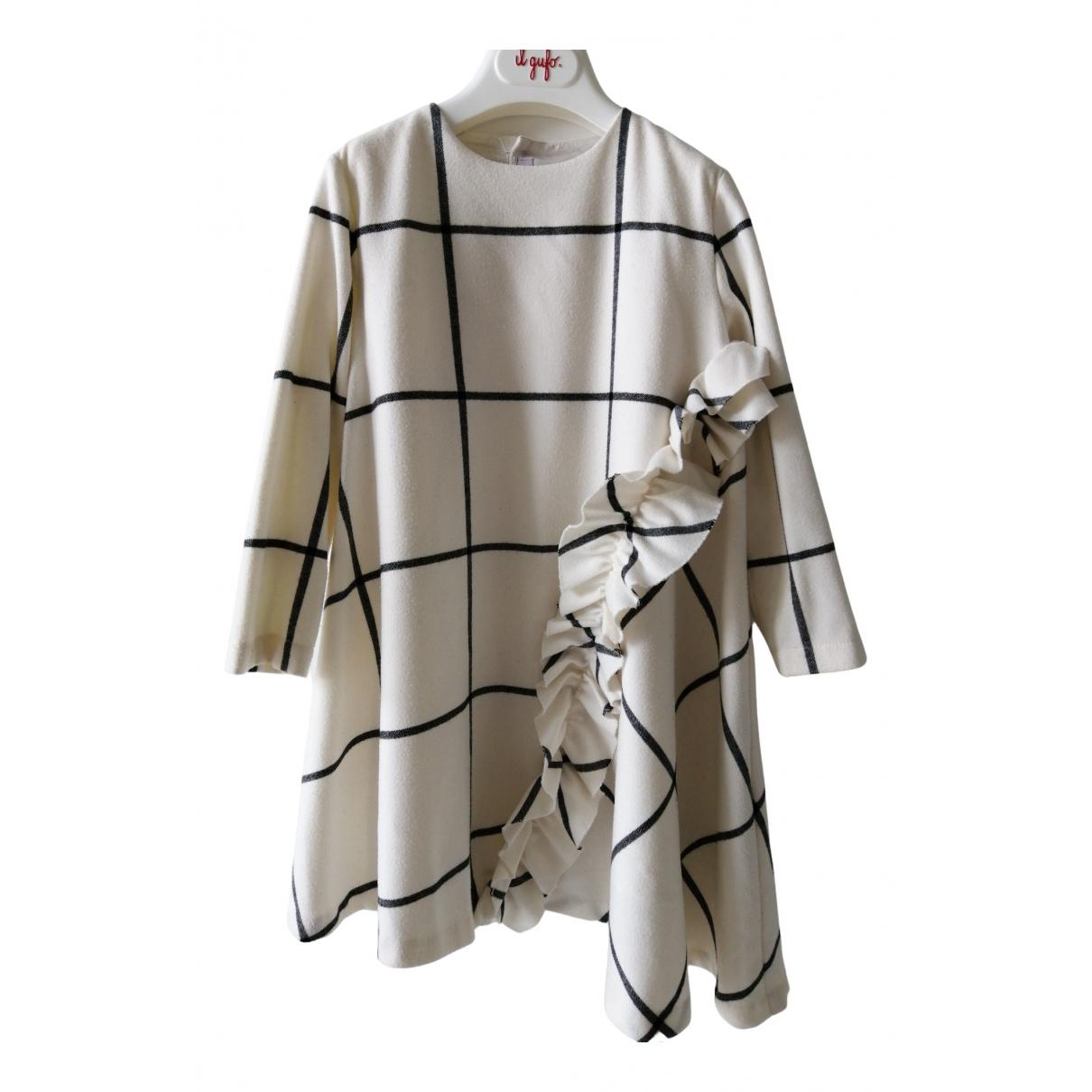 Il Gufo - Robe    pour enfant - ecru