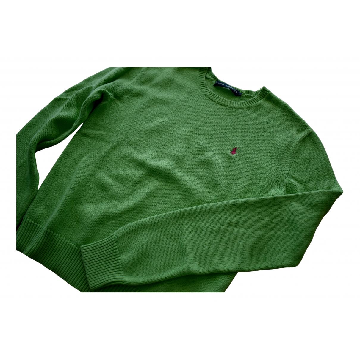 Polo Ralph Lauren - Pull   pour femme en coton - vert