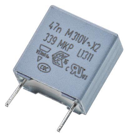 Vishay 47nF Polypropylene Capacitor PP 310V ac ±20% Tolerance Through Hole MKP 339 Series (10)